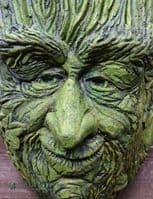 'Old Rye' Green Man Planter garden wall plaque